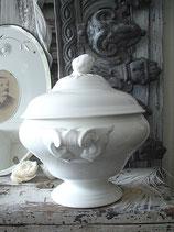 Shabby: Alte Keramik Terrine Maastricht
