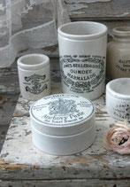 Shabby: Alte Deckeldose Keramik Topf aus England 1900