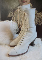 Antike viktorianische Damen Schnürstiefel um 1890