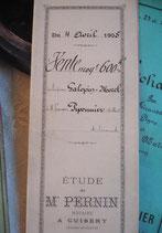Dekoratives antikes handgeschriebenes Notarschriftstück 1905 Frankreich