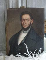 Portrait eines eleganten Herrn Biedermeier Öl