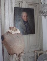 Antikes großes Herren Porträt Öl auf Leinen