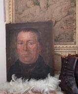 Antikes kleines Herren Porträt Öl auf Leinen