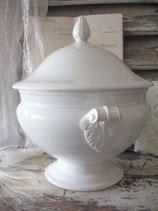 Shabby: Alte Keramik Terrine GIEN Frankreich 19. Jahrh.