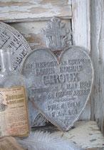 Altes Metall Gedenkerz aus Frankreich