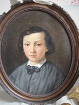 Antikes Porträt eines Jungen aus dem 19. Jahrhundert Frankreich