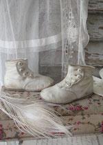 Shabby: Zauberhafte antike viktorianische Baby Knopfschuhe