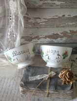 Shabby: Zauberhaftes Set alter Keramik Bols Petrus Regout