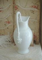 Wunderschöne große alte Porzellan Kanne Frankreich, 19. Jahrhundert