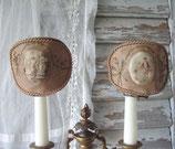 RAR: Zauberhaftes antikes Set alter Lampenschirme Frankreich