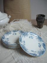 Shabby: Set Dessertteller Keramik Frankreich um 1890