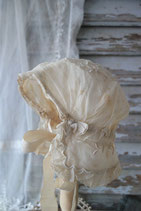 Sooo shabby: Antike Kindermütze Tüllspitze, Frankreich 1900