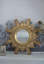 Vintage Sunburst Sonnenspiegel / Wandspiegel