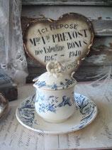 Antiker Keramik Moutardier aus Frankreich um 1875