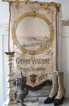 Antike Fahne Grand Veglione ca. 1908 aus Frankreich
