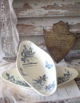 Antike Keramik Anbietschale / Seifenschale Frankreich