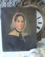 Zauberhaftes antikes Porträt einer jungen Dame, 19. Jahrhundert Frankreich