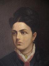 Antikes Porträt einer jungen Dame, Frankreich 1876