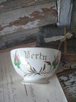 Shabby: Zauberhafte alte Keramik Bol