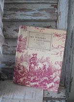 Altes französisches Buch - traumhaftes Toile de jouy Motiv