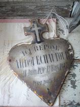 Antikes französisches Emaille Herz 1940
