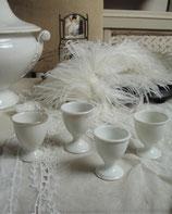 4-er Set antiker Eierbecher Porzellan Frankreich 1920