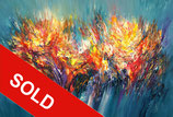 Turquoise Abstraction XL 1 / SOLD