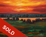 Lake: Evening Sunset M 2 / SOLD