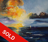 Beautiful Seascape Sunset SM 2 / SOLD