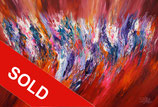 Red Energy Abstraction XL 1  / SOLD