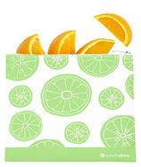 "original Lunschskins Lunch Bag ""Zip - bag"" mit Reißverschluss ""Grüne Früchte"""