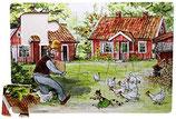 Petterson und Findus Rahmenpuzzle  - Hof