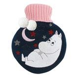 Wärmflasche Mumin in dunkelblau mit Mond (Disaster Desings)