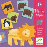 Lernspiel: Memo Bunte Tiere von DJECO