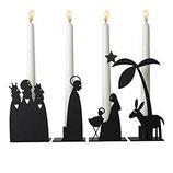 Krippe - Kerzenständer aus Metall