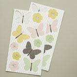 """Papieranhänger """"Schmetterlinge und Blüten"""" - 20er-Set"""