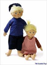 Puppen Michel aus Lönneberga und seine kleine Schwester Ida