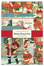 Vintage Christmas, Cavallini kleine Geschenk Sets, Petite Parcel Set (Weihnachtsmann)