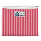 Zipper Sandwich Bag - pinke Streifen (von Planet Wise)
