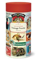 """""""Cats & Kittens - Katzen""""Cavallini Vintage Puzzle"""