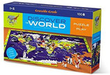 Bodenpuzzle Welt 100-Teile mit 21 Tier-Figuren von Crocodile Creek