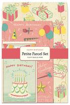 Happy Birthday - Alles Gute zum Geburtstag, Cavallini kleine Geschenk Sets, Petite Parcel Set