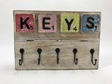 "Schlüsselbrett mit Scrabblebuchstaben Motiv ""KEYS"""