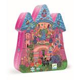 Silhouette Puzzle: Das Schloss aus dem Feenreich - 54 Teile von DJECO