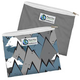 Zipper Sandwich Bag 2 er Pack:  Berge - Gebirge / einfarbig Grau (von Planet Wise)