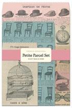 French Ephemera, Cavallini kleine Geschenk Sets, Petite Parcel Set