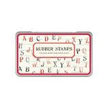 Cavallini Papers Rubber Stamps - Stempelset - Alphabet- Großbuchstaben