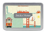 Cavallini Papers Sticky notes - Haftnotizzettel- San Francisco