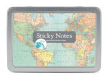 Cavallini Papers Sticky notes - Haftnotizzettel- Maps - Weltkarten