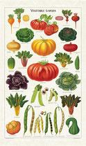 Vintage Garten Gemüse Geschirrtuch (Cavallini Papers & Co.)